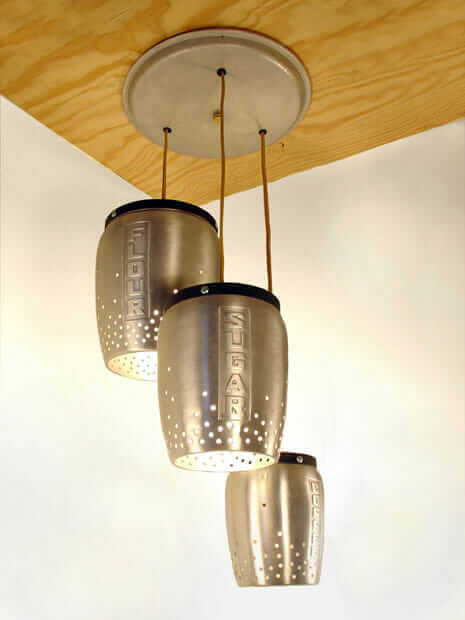 Pendant Lights Made From Vintage Kitchen Canisters