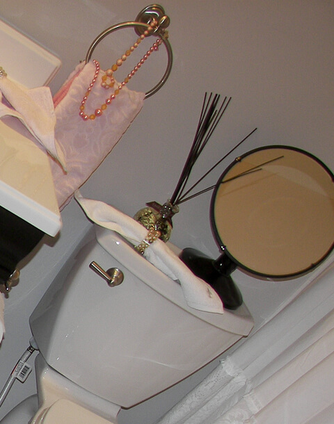 designer toilet flush lever
