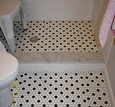 carrera marble shower threshold