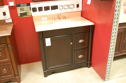shaker bathroom vanity from lowes