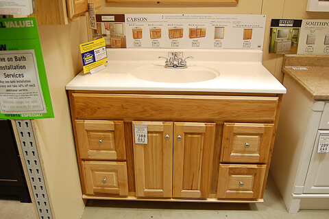 maple bathroom vanity from lowes