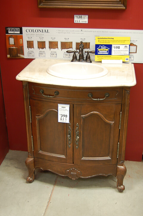 vintage style vanity from lowes