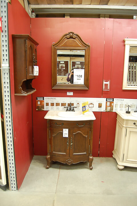 edwardian style vanity at lowes