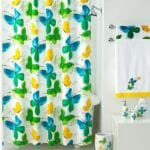 vintage vera neumann flights of fancy shower curtain