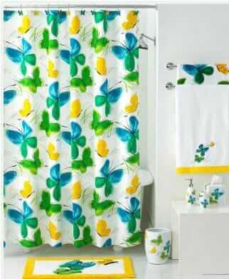 ... Vintage Vera Neumann Flights Of Fancy Shower Curtain