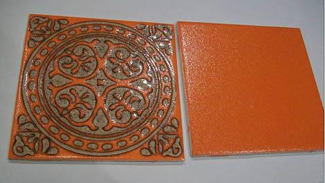 1970s orange tile