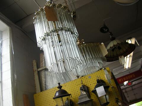 vintage 1980s chandelier