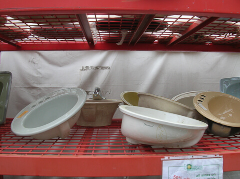 vintage sinks at the Re-Store