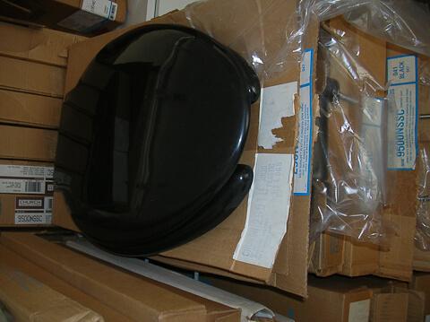 vintage black toilet seat