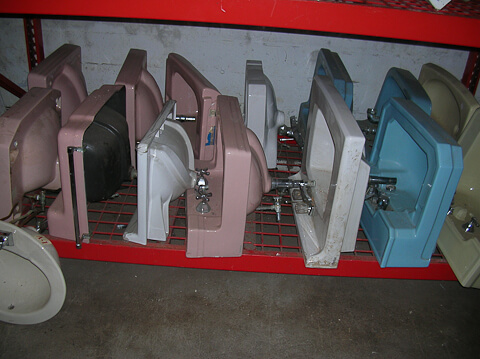 vintage bathroom sinks at the re-store