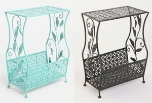painted metal side tables