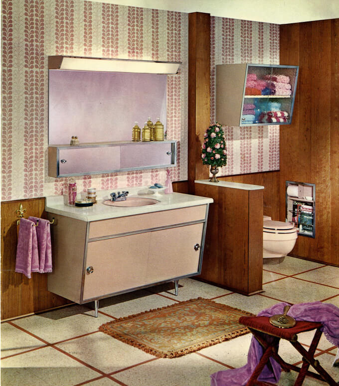 Satin Glide Vintage Bathroom Vanity 1963