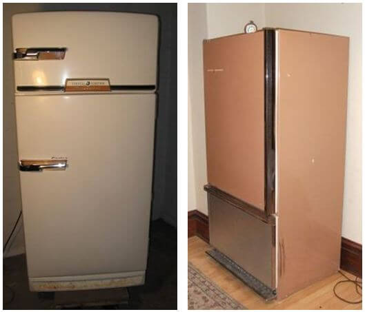 Vintage Fridge: Can 1940s Kitchen Cabinets Mix With A 1960s Refrigerator