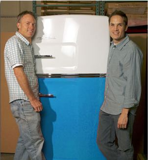 big chill original refrigerator with cofounders thom vernon and orion creamer