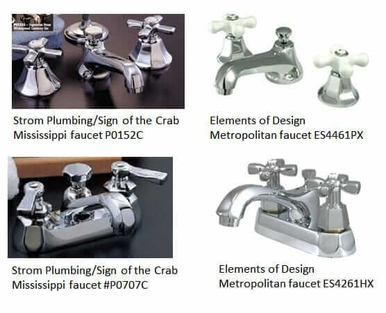 retro bathroom faucets