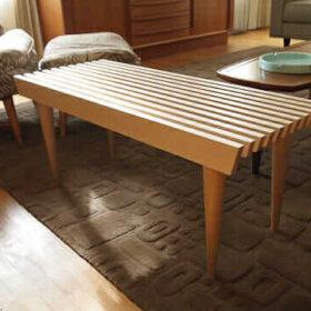 george nelson style slat bench