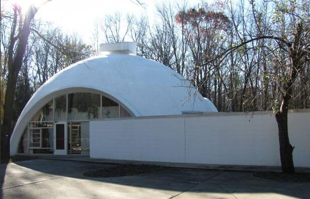 dome house made of dow corp. styrofoam