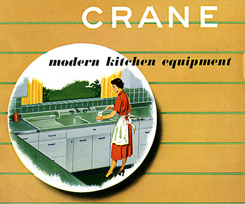 catalog of 1953 crane kitchen cabinets