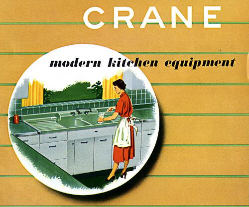 catalog of 1953 crane kitchen cabinets