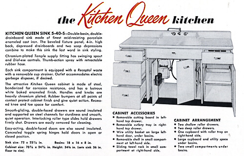 1953 crane kitchen cabinets 26 photos complete catalog for Beauty queen metal kitchen cabinets