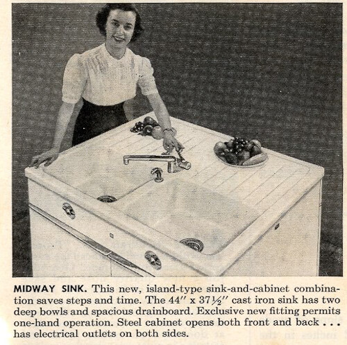 vintage drainboard sink with strange design drainboard location