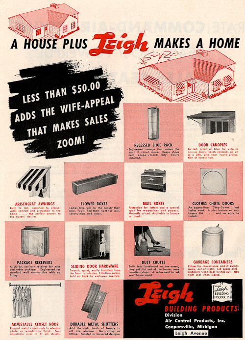 odd features in 1950s houses