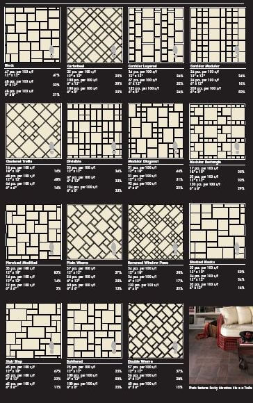 88 patterns for mosaic floors