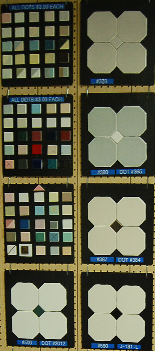 octagon and dot tile with 72 square dot colors
