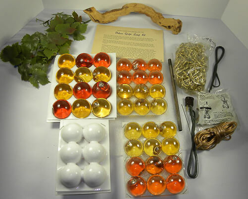 complete NOS kit to create a vintage grape cluster lamp