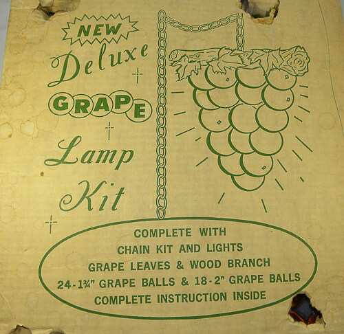graphics and box for grape cluster swag light kit