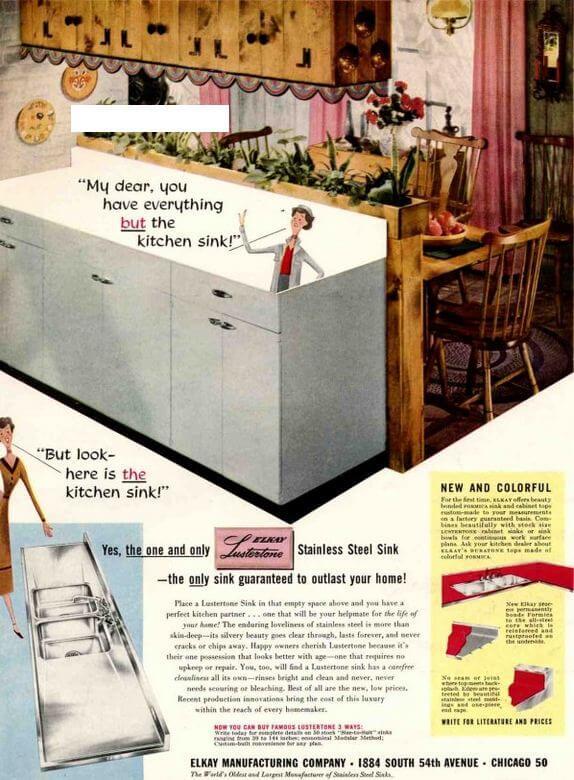1953 lustertone sink