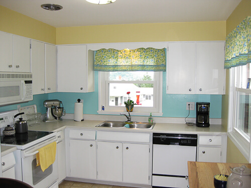 1956 kitchen with cheerful paint