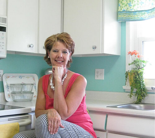 trina in her 1956 kitchen