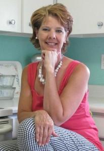 trina in her 1956 kitchen