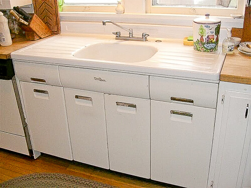 old farmhouse kitchen cabinets for sale joe replaces a vintage porcelain drainboard kitchen sink 23994