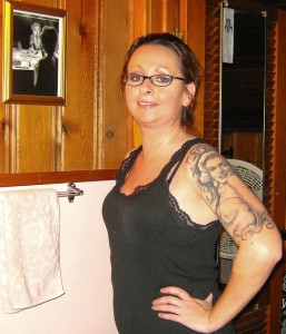 Check out Lynne's Marilyn Monroe tattoo!