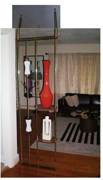 Is it a room divider Is it a pole lamp Is it a display shelf Yes