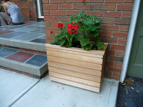 cindys custom made midcentury modern style planters