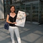 retro renovation in the new york times - cindy in front of the new york times!
