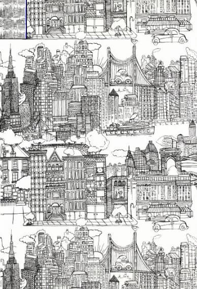 saul steinberg new york new york wallpaper from schumacher