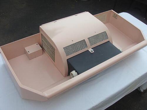 vintage pink Caloric range top hood