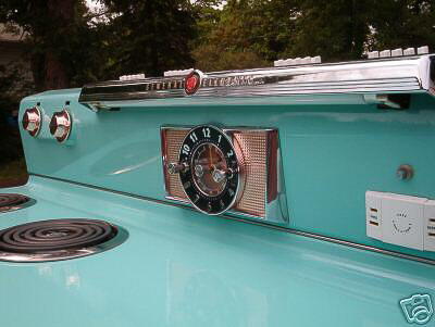 vintage ge stove in robins egg blue