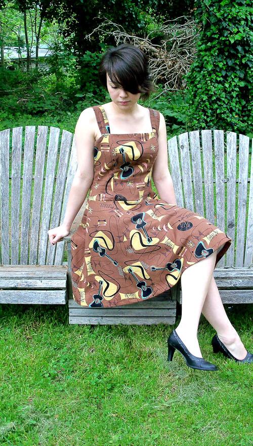 dress made from barkcloth by rabbit rabbit