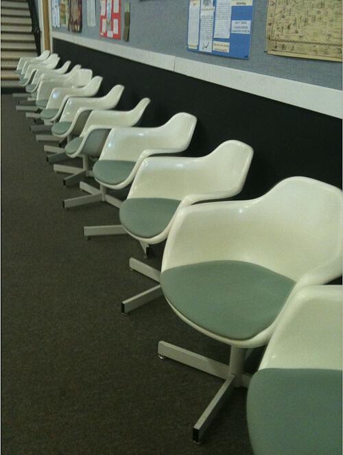krueger tulip chairs vintage 1970s