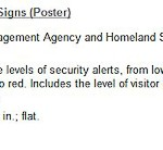 Homeland Security Threat Level Posters Signs