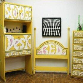 drexel flower power bedroom set peter max