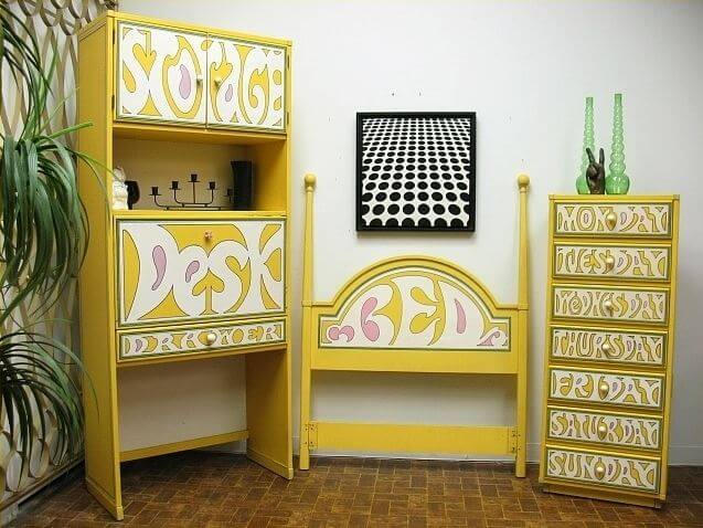 drexel flower power bedroom set peter max