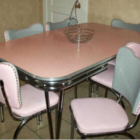 vintage dinette chairs reupholstered