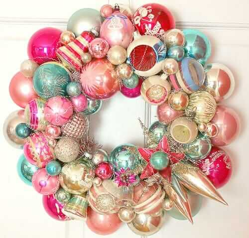 Vintage Christmas ornament wreaths - the first wave of Georgia ...