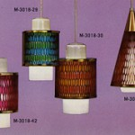 1960s moe light honeycomb pendant light